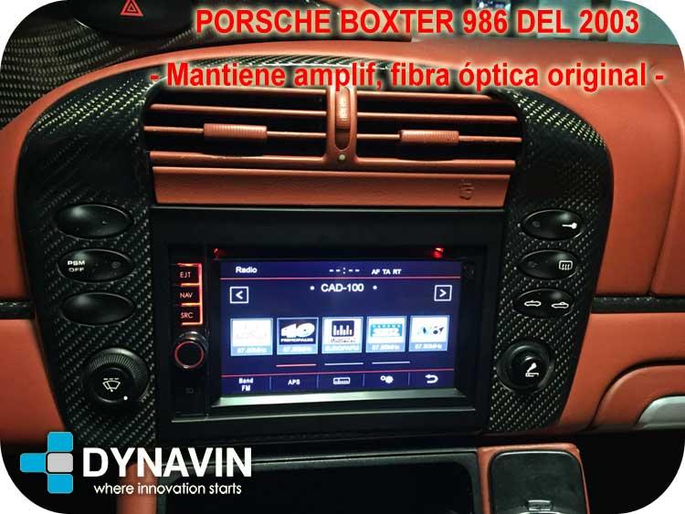 dynavin n7 porsche boxter 986 de 2003 matiene amplificador fibra optica original