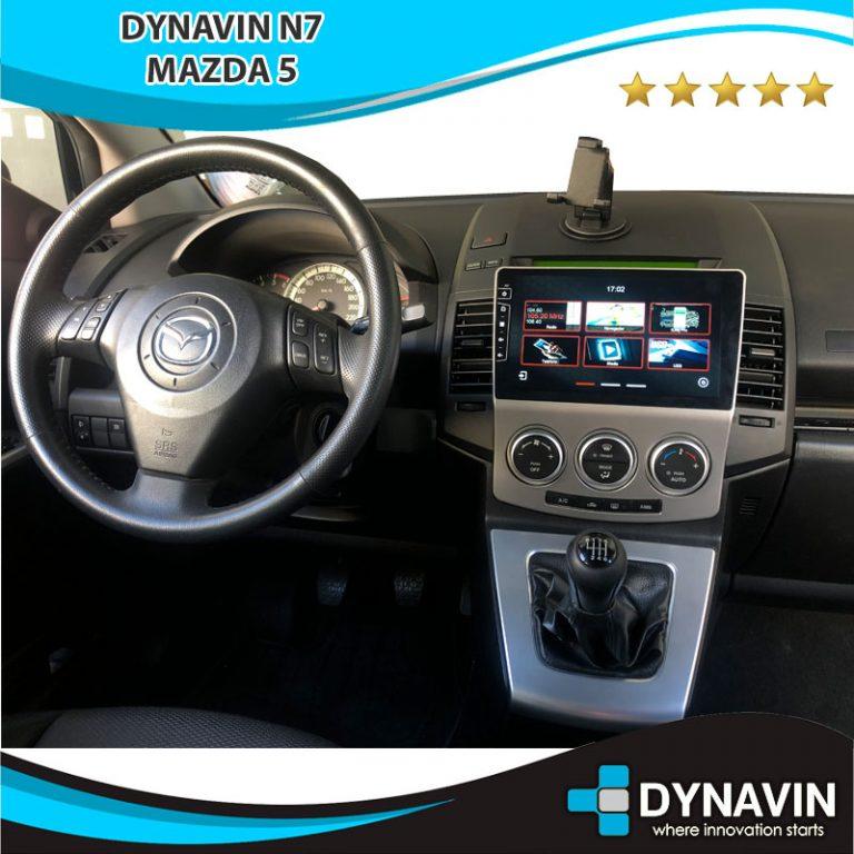 menú Dynavin N7 en Mazda 5 2008