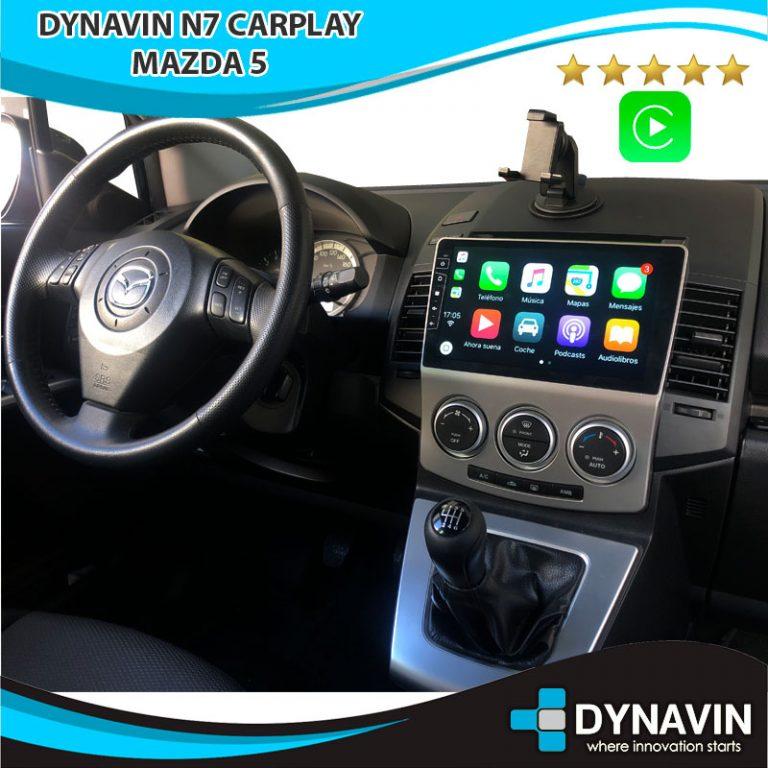 Mazda 5 con Dynavin N7 y CarPlay
