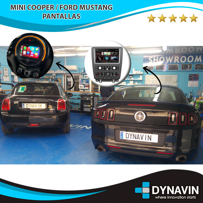 Mini Cooper y Ford Mustang